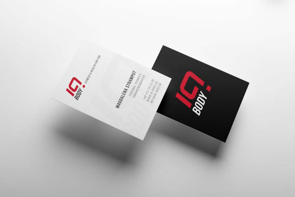 talklick grafikdesign - Visitenkarten IQ BODY