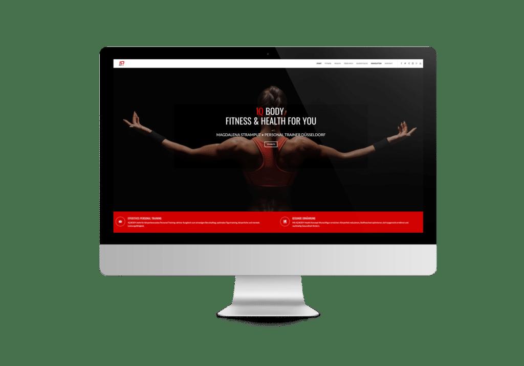 talklick webdesign - Referenzen IQ BODY FITNESS & HEALTH FOR YOU