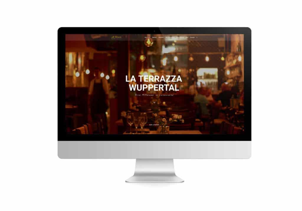 talklick webdesign - Referenzen La Terrazza Wuppertal