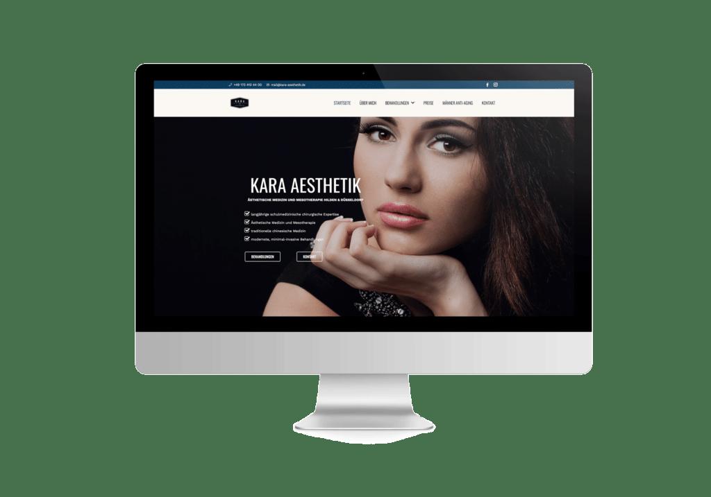 talklick webdesign - Referenzen KARA AESTHETIK