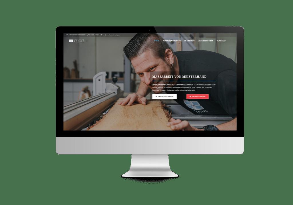 talklick webdesign - Referenzen Bauschreinerei Beisig