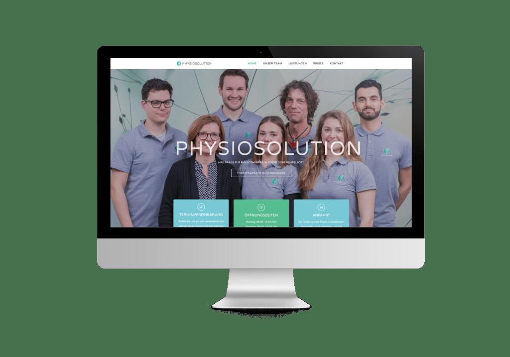 talklick webdesign - Referenzen PHYSIOSOLUTION