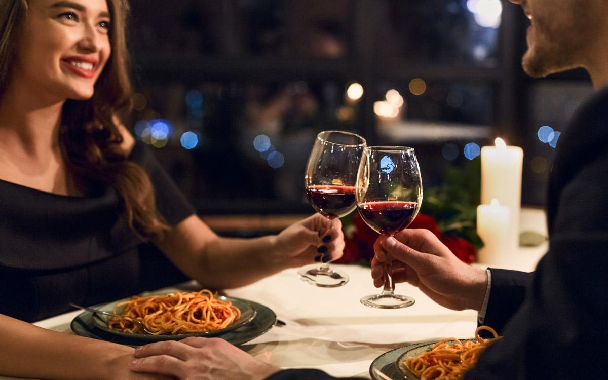 Gutschein für Abendessen am Valentinstag